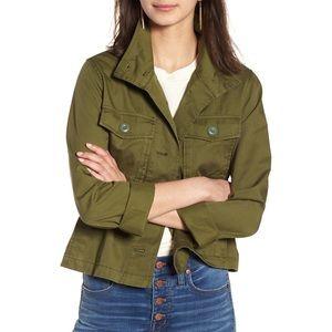 Madewell Crop Anorak Jacket Military